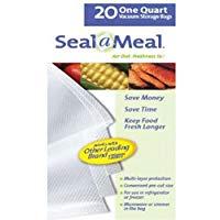 Seal-A-Meal Precut Vacuum Sealer Bags 1 Pint (20 Count)