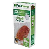FoodSaver Precut Vacuum Sealer Bags, 1 Quart (20 Count)