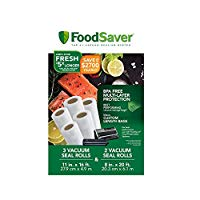 "FoodSaver 8""x20ft and 11""x16ft Vacuum Sealer Bag Rolls (5 Rolls)"
