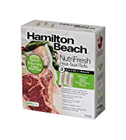 "Hamilton Beach 8""x20ft Vacuum Sealer Bag Roll (3 Rolls)"
