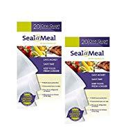 Seal-A-Meal Precut Vacuum Sealer Bags 1 Quart (40 Count)
