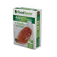 FoodSaver Precut Vacuum Sealer Bags, 1 Quart (44 Count)