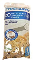 FoodSaver Reusable Zipper Top Precut Vacuum Sealer Bags, 1 Gallon (20 Count)