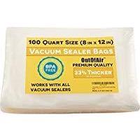 OutOfAir Precut Vacuum Sealer Bags, 1 Quart (100 Count)