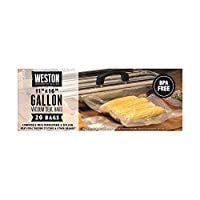 Weston Precut Vacuum Sealer Bags 1 Gallon (42 Count)