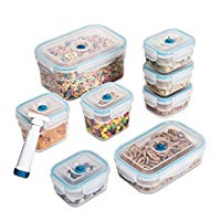 Zevro Rectangular-Shaped Vacuum Sealing Food Storage Containers, Set of 8