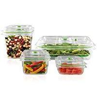 FoodSaver Vacuum Sealed Fresh Container Set, 4-Piece Set