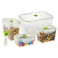 Nestable Food Storage Vacuum Containers, Set of 4